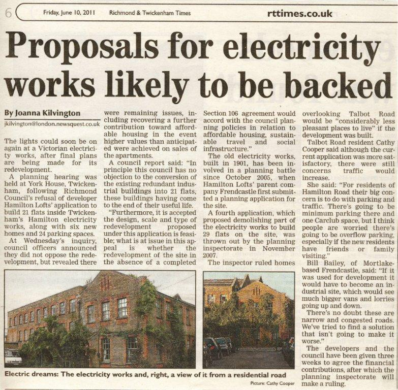 Proposals for electricity works likely to be backed